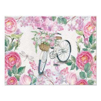 Elegant Bicycle and Flowers Photo Art