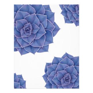 Elegant Big Purple Echeveria Design Letterhead