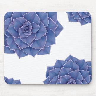 Elegant Big Purple Echeveria Design Mouse Pad