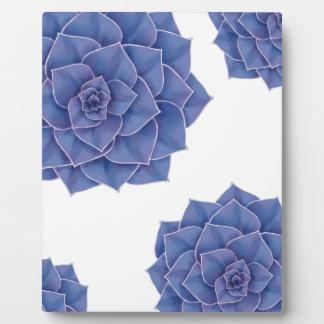Elegant Big Purple Echeveria Design Plaque