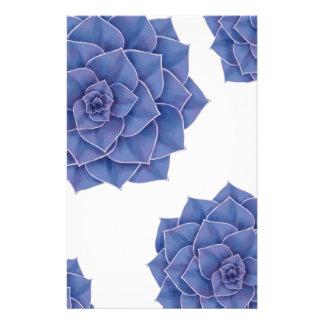 Elegant Big Purple Echeveria Design Stationery