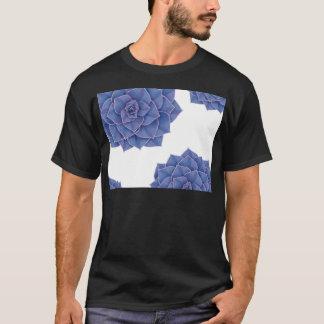 Elegant Big Purple Echeveria Design T-Shirt