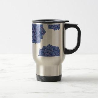 Elegant Big Purple Echeveria Design Travel Mug