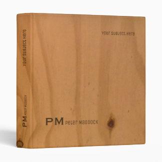 elegant binder with name on faux wood grains