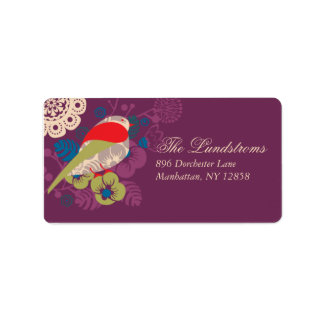 Elegant Bird In Paradise Mailing Label