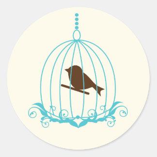 Elegant Birdcage Classic Round Sticker