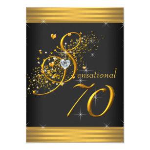 Elegant 70th 4x6 Birthday Invitations Announcements