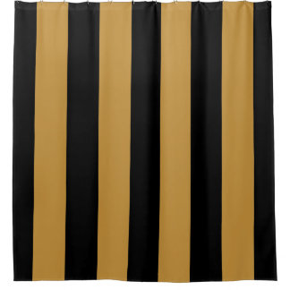 Elegant Black and Gold Bold Vertical Stripes