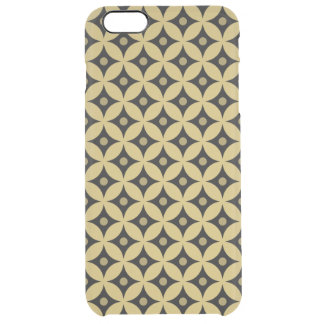 Elegant Black and Gold Circle Polka Dots Pattern Clear iPhone 6 Plus Case