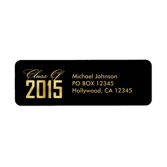 Elegant Black and Gold Class of 2015