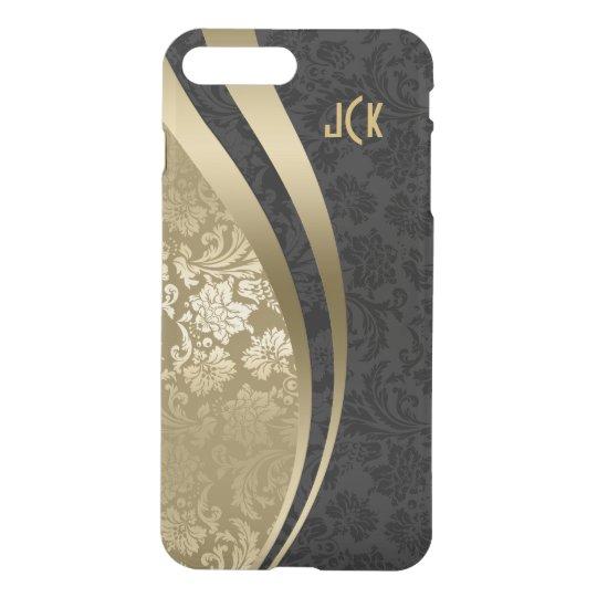 Elegant Black And Gold Damasks Dynamic Stripes 2 iPhone 8 Plus/7 Plus Case