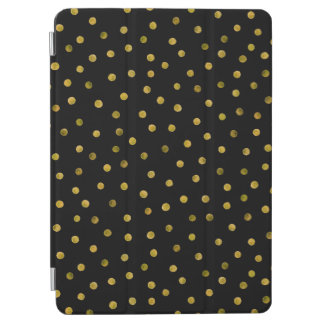 Elegant Black And Gold Foil Confetti Dots iPad Air Cover