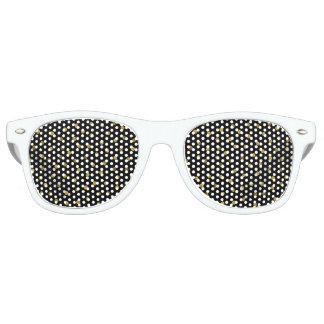 Elegant Black And Gold Foil Confetti Dots Party Sunglasses