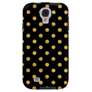 Elegant Black And Gold Foil Polka Dot Pattern