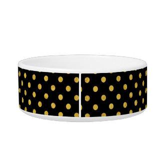 Elegant Black And Gold Foil Polka Dot Pattern Bowl