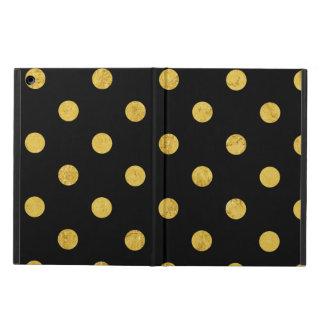 Elegant Black And Gold Foil Polka Dot Pattern iPad Air Cover