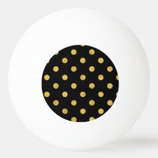 Elegant Black And Gold Foil Polka Dot Pattern Ping Pong Ball