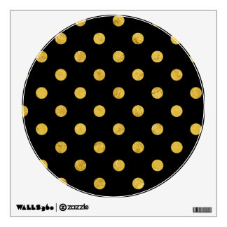Elegant Black And Gold Foil Polka Dot Pattern Wall Sticker