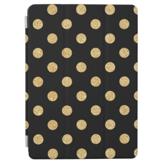 Elegant Black And Gold Glitter Polka Dots Pattern iPad Air Cover
