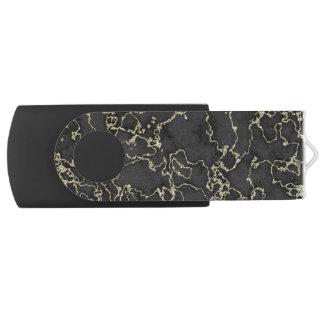 Elegant Black and Gold Marble USB Flash Drive