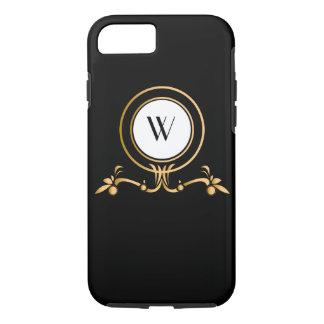Elegant Black and Gold Monogram Design   Case-Mate iPhone Case