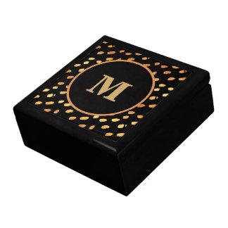 Elegant Black and Gold Monogram Gift Box