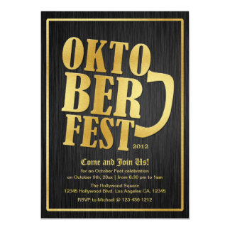 Elegant Black and Gold Oktoberfest Card