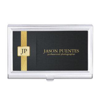 Elegant Black and Gold Professional Business Card Holder