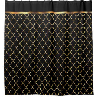 Elegant Black and Gold Quatrefoil Patterns