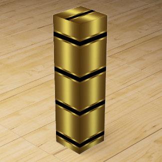 Elegant Black and Gold Wine Box