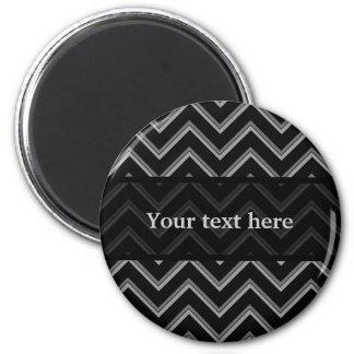 Elegant black and gray chevron pattern magnet