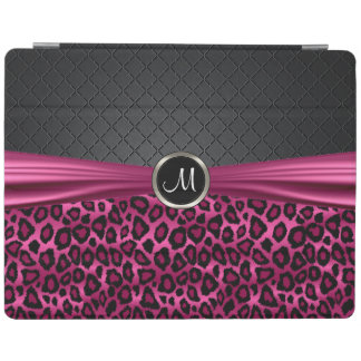 Elegant Black and Hot Pink Leopard Pattern iPad Cover