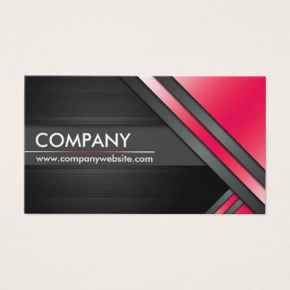 Elegant Black And Red (Personalize) Business Card