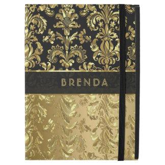 "Elegant Black And Shiny Gold Floral Damasks 2 iPad Pro 12.9"" Case"