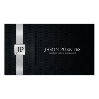 Elegant Black and Silver Accounting Business Card Templates