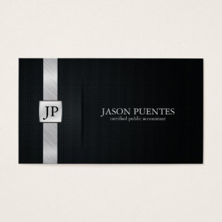 Elegant Black and Silver Accounting Business Card
