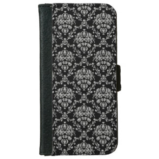 Elegant Black and Silver Damask iPhone 6 Case