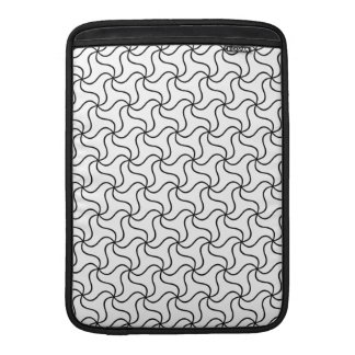 Elegant black and white abstract swirl MacBook sleeve