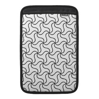 Elegant black and white abstract swirl sleeve for MacBook air