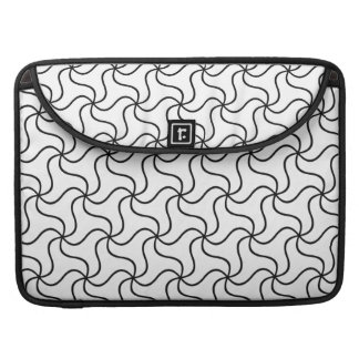 Elegant black and white abstract swirl sleeves for MacBook pro