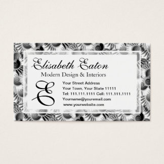 Elegant Black and White Art Deco 1920s Glamour Business Card