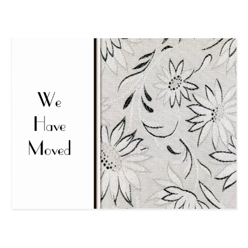 Elegant Black and White Change of Address Postcard