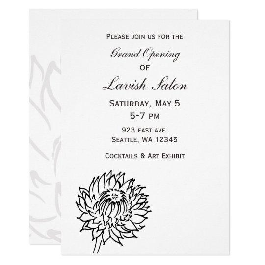 Elegant Black and White Corporate party Invitation