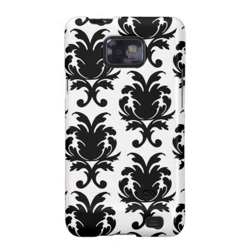 elegant black and white damask samsung galaxy s2 cover