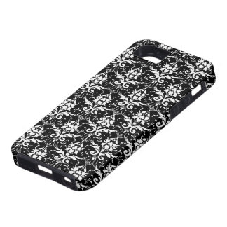 Elegant Black and White Damask Pattern Case For The iPhone 5