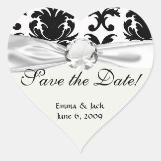 elegant black and white damask stickers