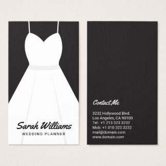 Elegant Black and White Event Wedding Planner Business Card