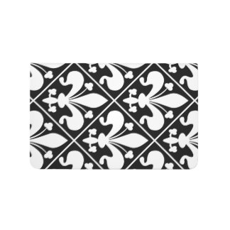 Elegant Black and White Fleur de Lys Journal