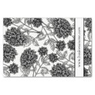 Elegant Black and White Floral Tissue Paper