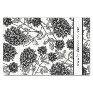Elegant Black and White Floral Tissue Paper